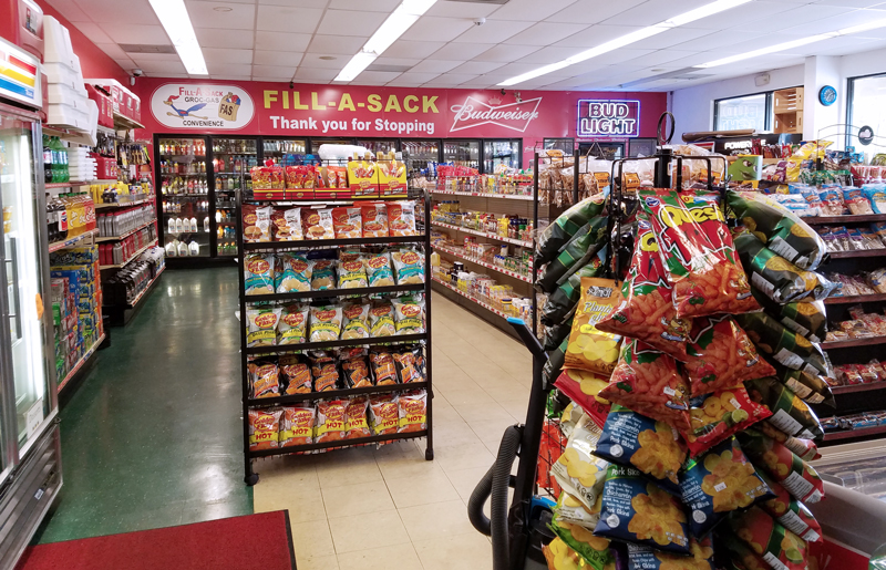 Fill-A-Sack inside store - food drinks & gas