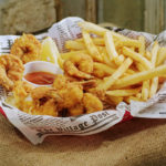 FRIED SHRIMP PLATE WITH FRIES